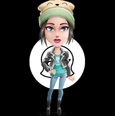 Cute Teenage Girl Cartoon Vector Character AKA Dixie