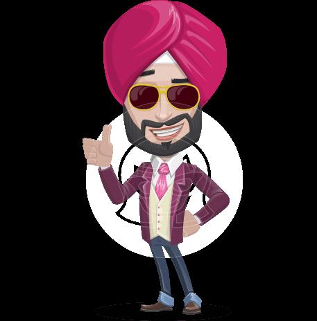 Indian Businessman Cartoon Vector Character AKA Jayant