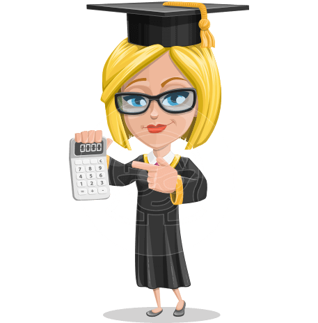 Girl in Graduation Gown and Cap Cartoon Vector Character AKA Jennie