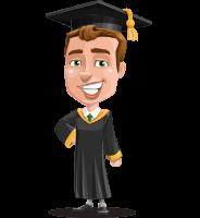 Male College Graduate Cartoon Vector Character AKA Tyler