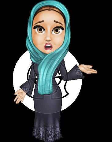 Arab Girl In Traditional Dress Cartoon Vector Character AKA Farah