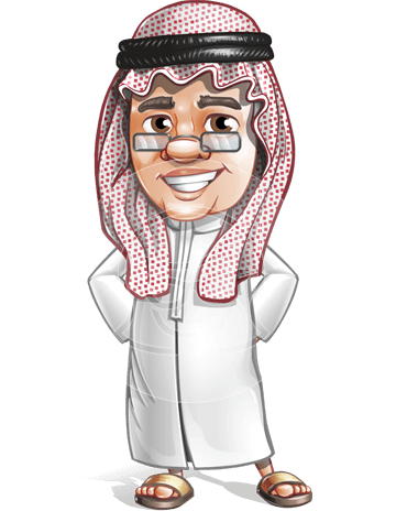 Saudi Arab Man Cartoon Vector Character AKA Wazir the Advisor