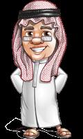 Saudi Arab Man Cartoon Vector Character AKA Wazir the Advisor
