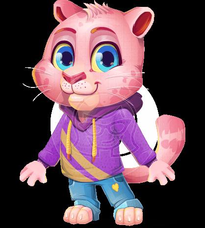 Cute Panther Cartoon Vector Character