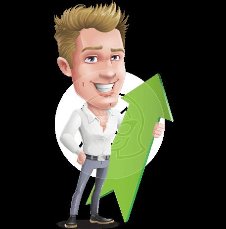 Blond Businessman Cartoon Vector Character