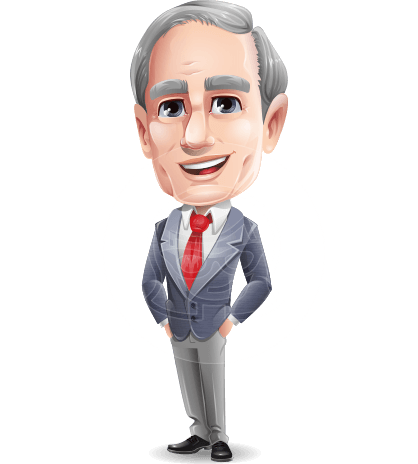 Mature Businessman Cartoon Vector Character