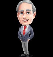 Mature Businessman Cartoon Vector Character