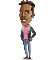 Young African American Man Cartoon Vector Character