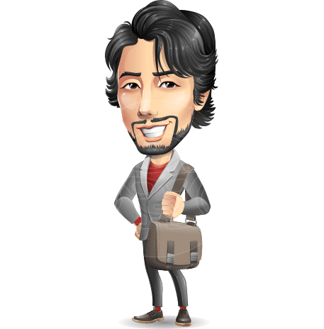 Japanese Businessman Cartoon Vector Character