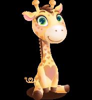 Baby Giraffe Cartoon Vector Character