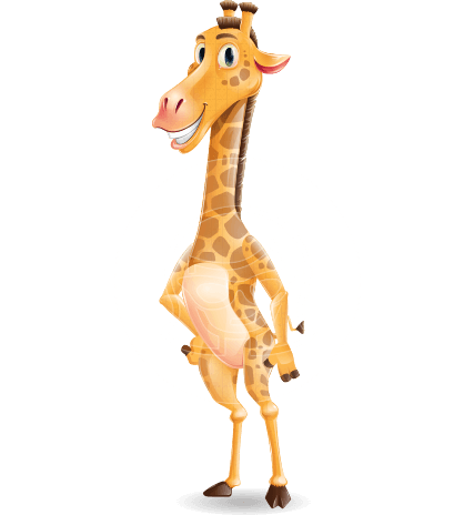 Cartoon Giraffe Vector Character