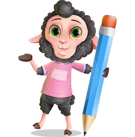 Lamb Cartoon Vector Character