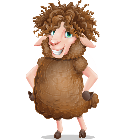 Cartoon Sheep Vector Character