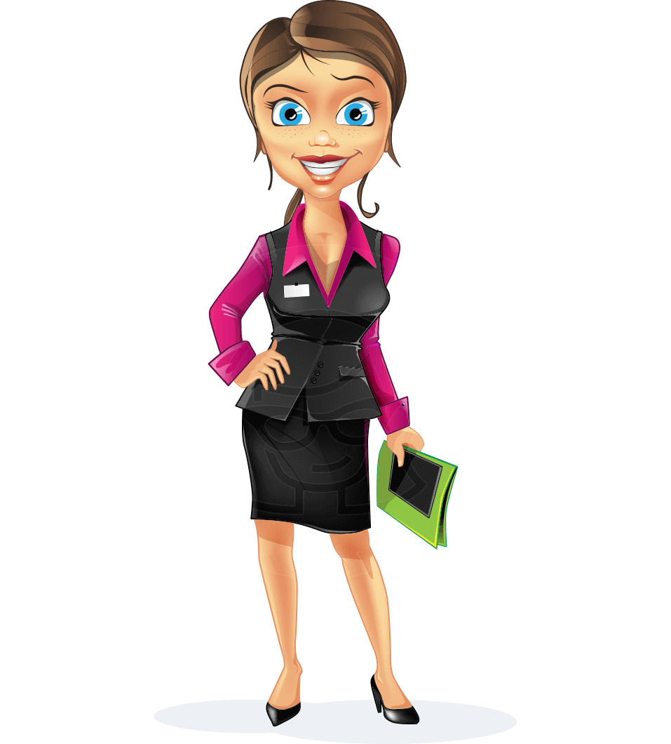 Business Woman Cartoon Vector Character