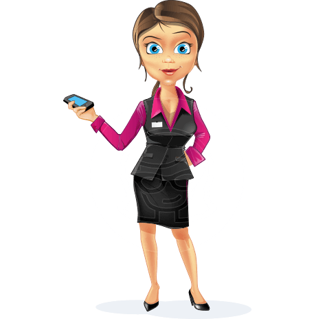 Business Woman Cartoon Vector Character