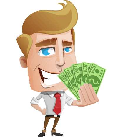 Office Man Cartoon Vector Character