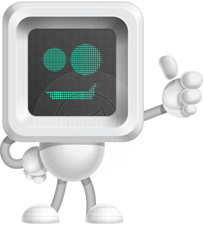 Robot Cartoon Vector Character