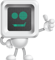 Robot Cartoon Vector Character