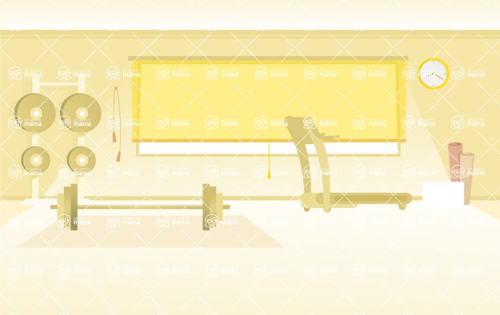 Room Backgrounds Vector Collection - Minimalistic Vector Gym Background