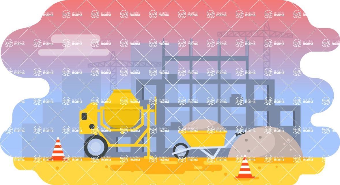 Vector Backgrounds - Mega Bundle - Flat Under Construction Background