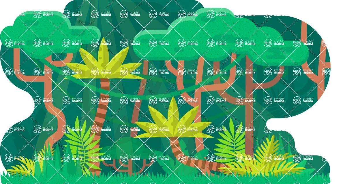 Vector Backgrounds - Mega Bundle - Into the Woods Vector Background Illustration
