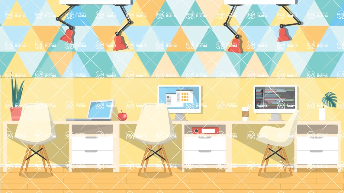 Vector Backgrounds - Mega Bundle - Colorful Modern Office Vector Background Illustration