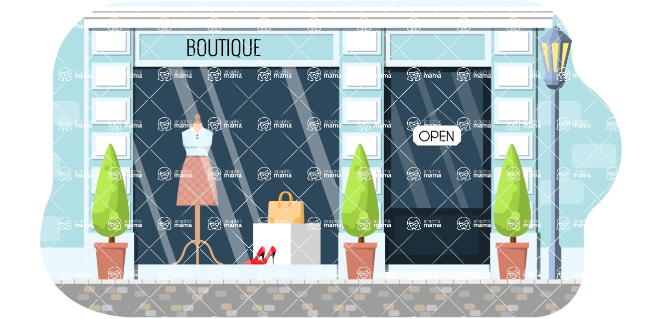 Vector Backgrounds - Mega Bundle - Modern Fashion Boutique Illustration Vector Background
