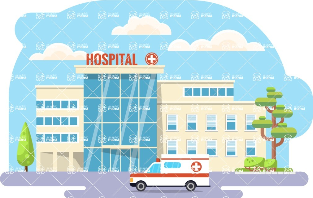 Vector Backgrounds - Mega Bundle - Flat Hospital Illustration Vector Medical Background