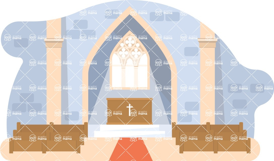 Vector Backgrounds - Mega Bundle - Church Vector Background Illustration