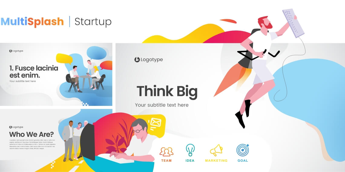 MultiSplash - Startup Presentation Templates for PowerPoint and Google Slides