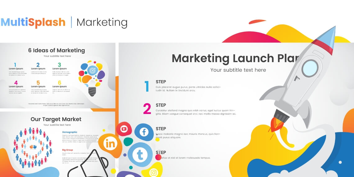 MultiSplash - Marketing Presentation Templates for PowerPoint and Google Slides