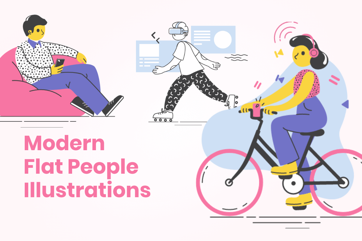 Modern Flat People Illustrations Bundle