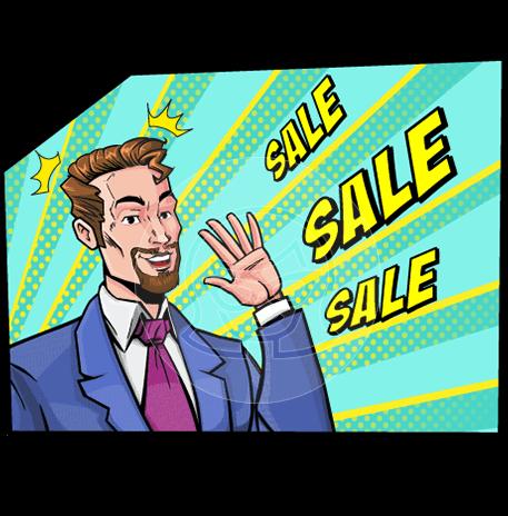 Pop Art Businessman Cartoon Vector Character