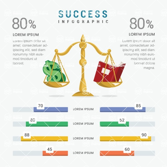 Infographic Templates Collection - Vector, Photoshop, PowerPoint, Google Slides - Success Comparison Infographic Template
