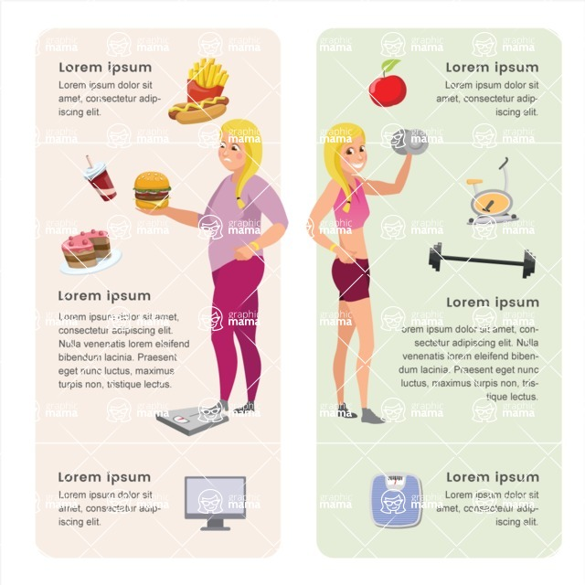 Infographic Templates Collection - Vector, Photoshop, PowerPoint, Google Slides - Diet Food Infographic Template