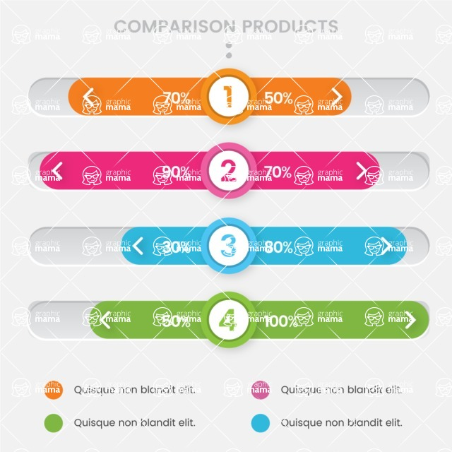 Infographic Templates Collection - Vector, Photoshop, PowerPoint, Google Slides - Percentage Comparison Infographic Template