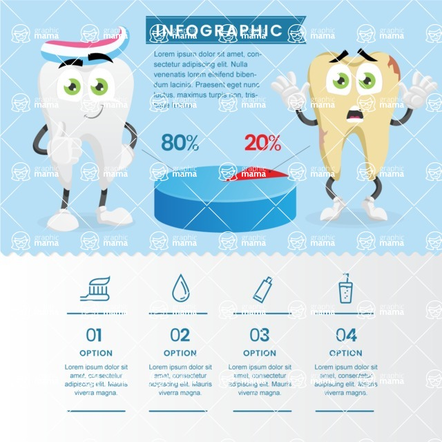 Infographic Templates Collection - Vector, Photoshop, PowerPoint, Google Slides - Dental Infographic Template