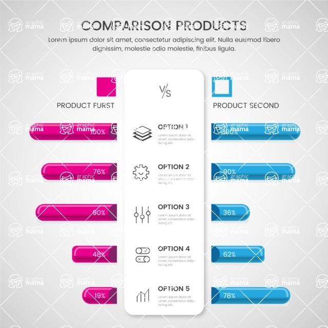 Infographic Templates Collection - Vector, Photoshop, PowerPoint, Google Slides - Product Comparison Infographic Template