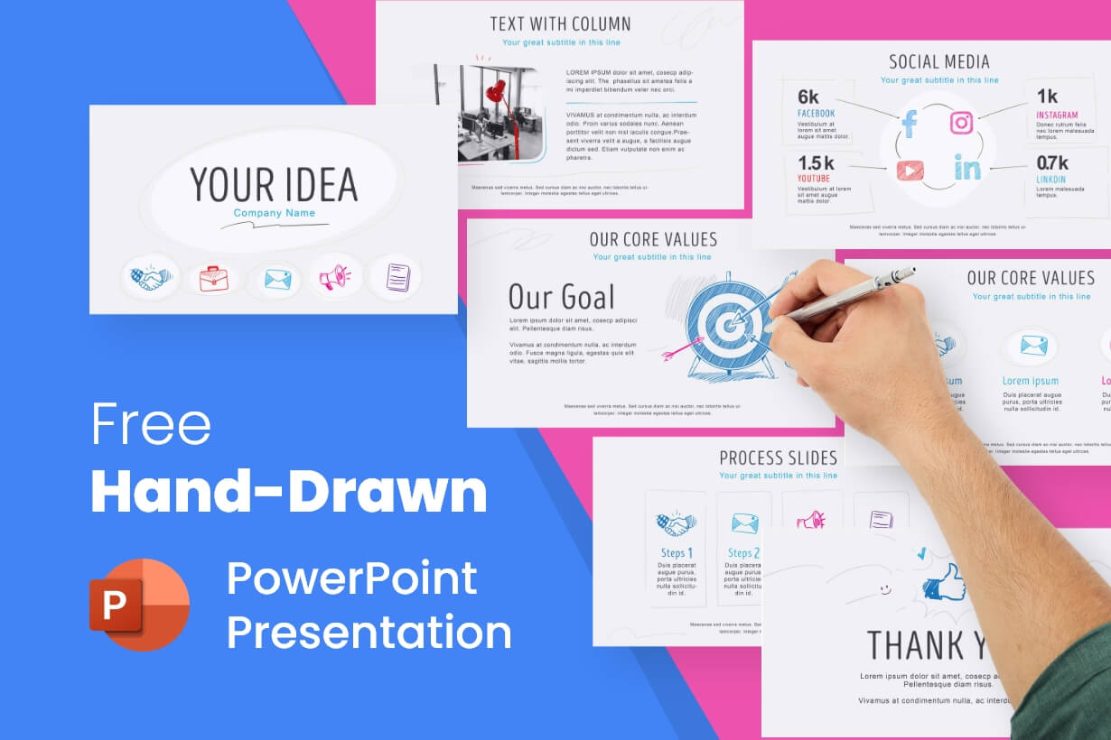 Free Hand-Drawn PowerPoint Presentation