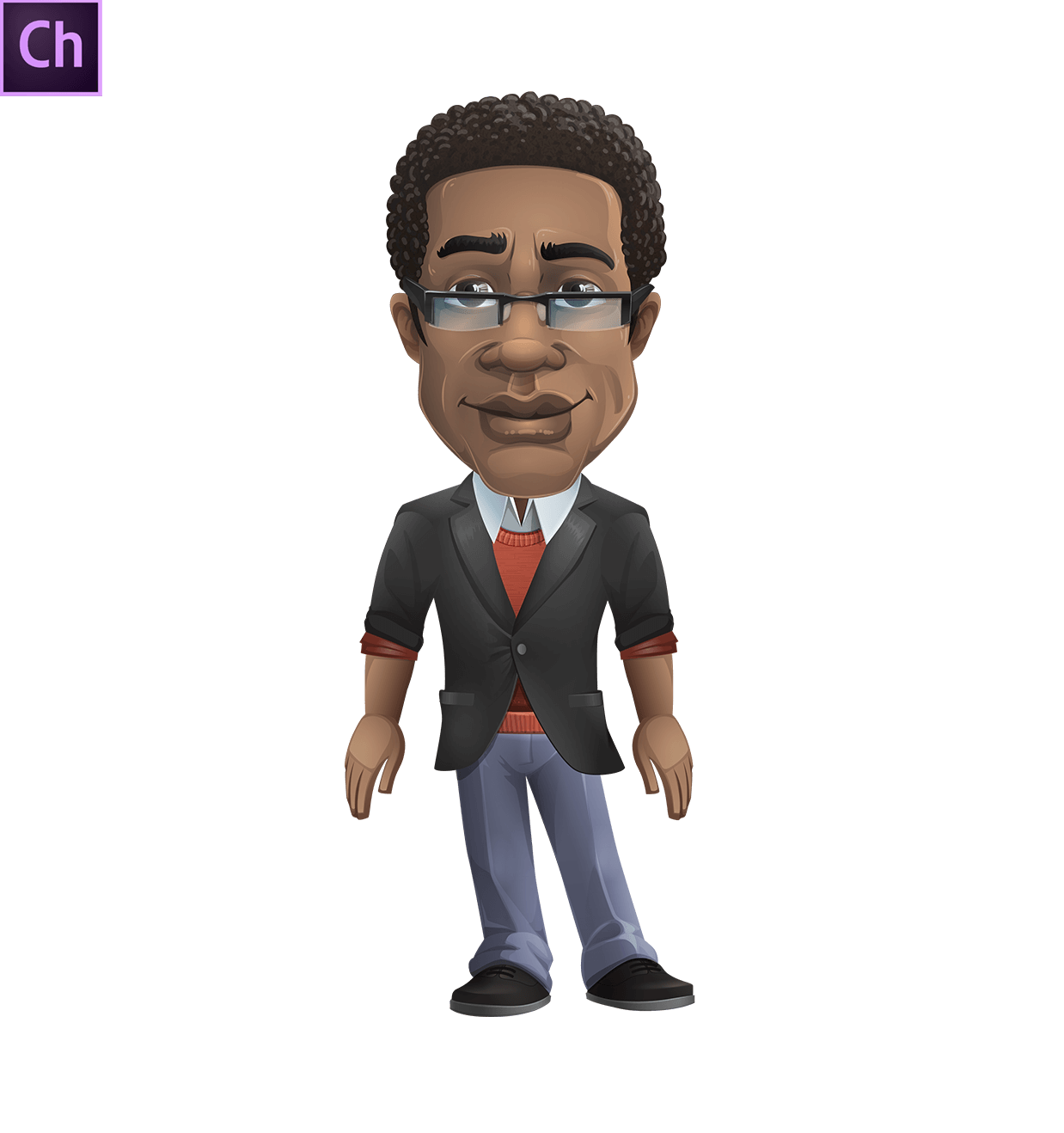 Smart African-American Teacher Puppet