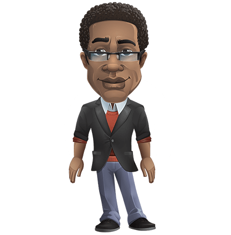 Smart African-American Teacher Puppet