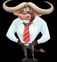 Business Buffalo Cartoon Vector Character