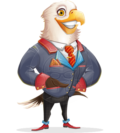 American Eagle Cartoon Vector Character