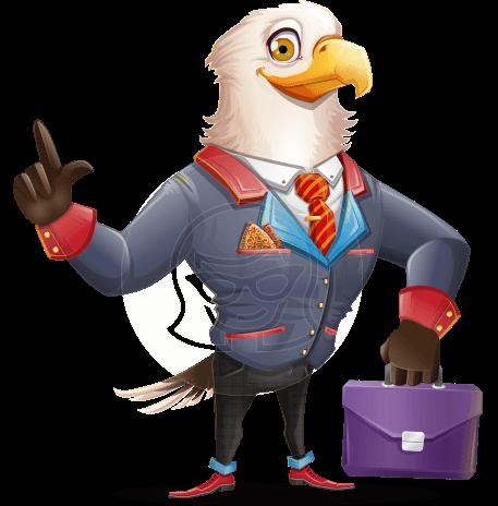 American Eagle Cartoon Vector Character