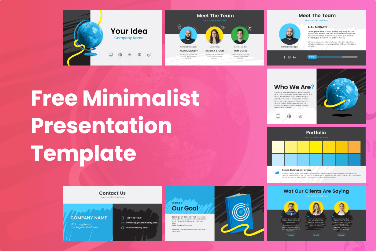 Free Minimalist Presentation Template
