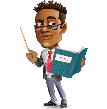 African-American Teacher Cartoon Character