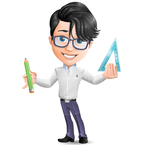 Modern Young Cartoon Teacher Character