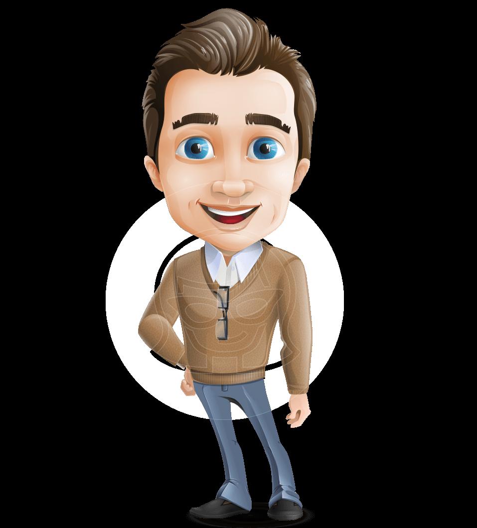 Male Teacher Cartoon Character