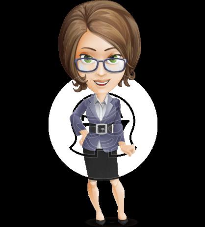 Female Teacher Cartoon Vector Character