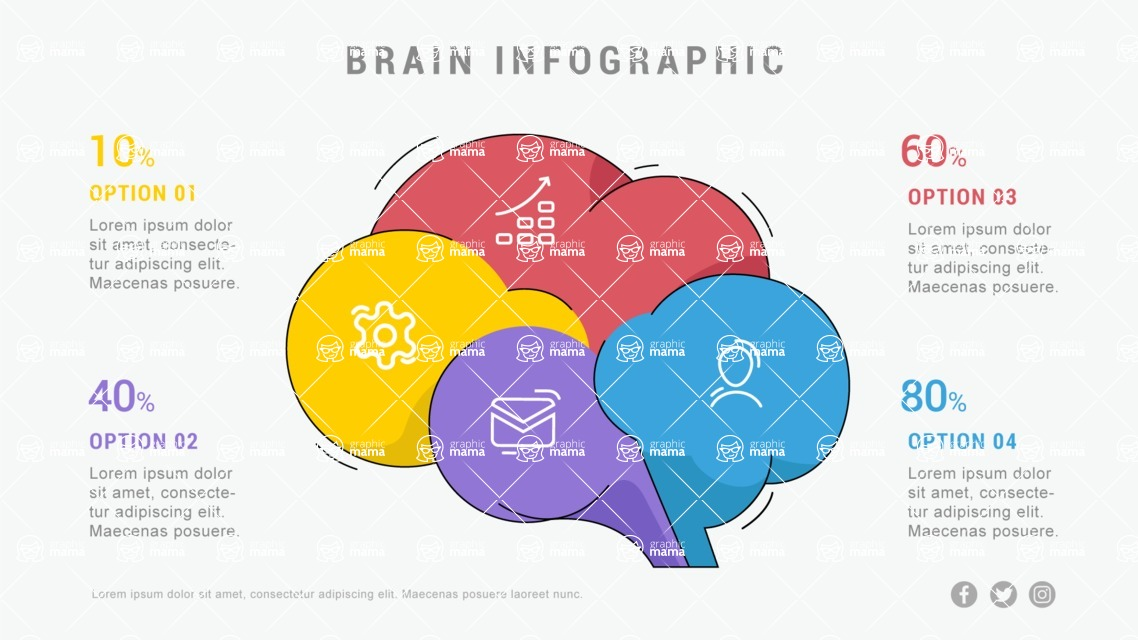 Ultimate Infographic Template Collection - Mega Bundle Part 2 - Brain Infographic Template